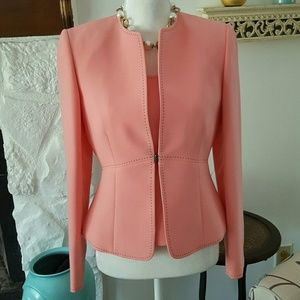 TAHARI PINK JACKET WITH SHELL SIZE 4